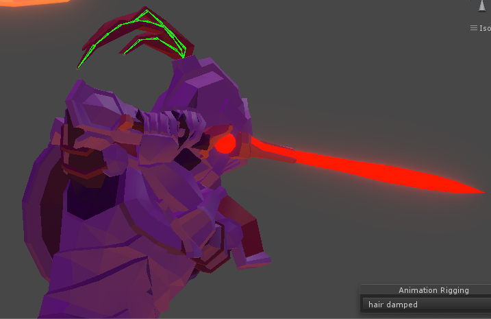 AnimationRigging实现头发晃动